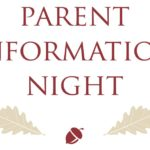 Parent Information Night — Thursday, September 20th — 6:30pm